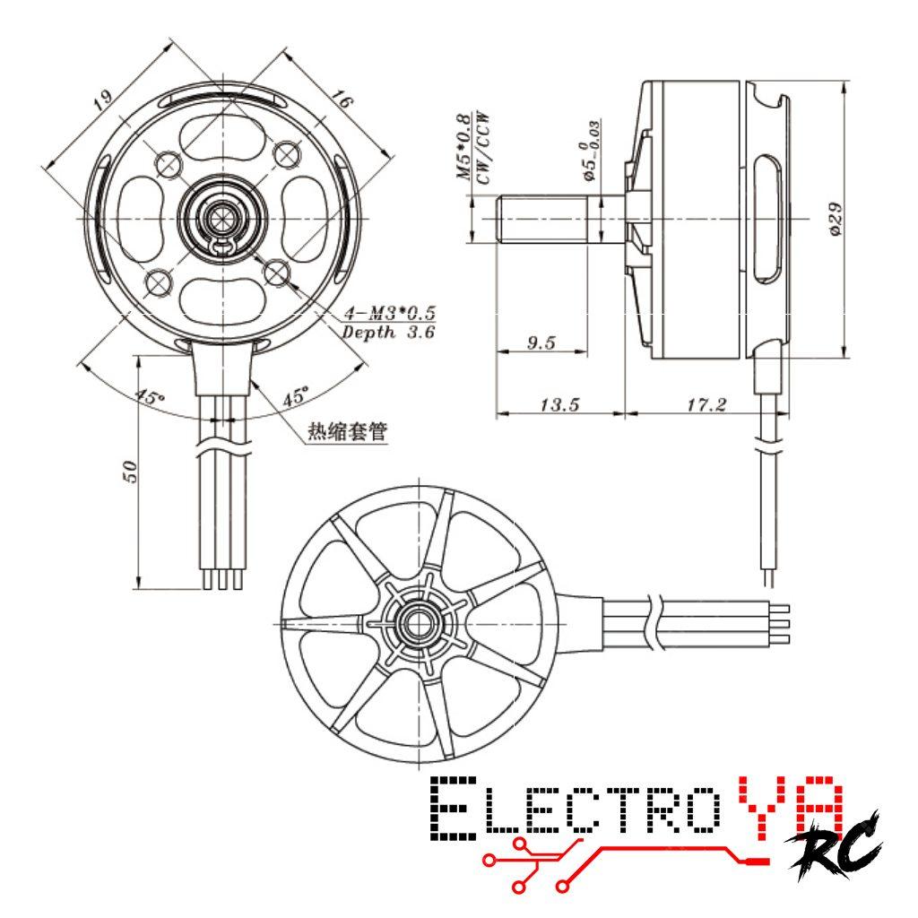 Sunnysky R Motor Kv Pack 4 Motoren