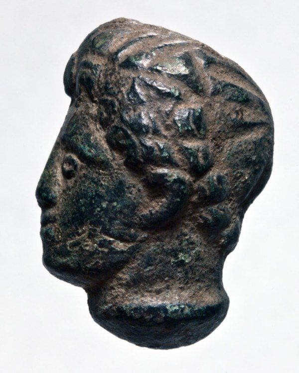 Bronze sculpted head