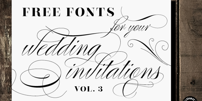 Free Fonts For Wedding Invitations To Create Your Invitation With Chic Design 20