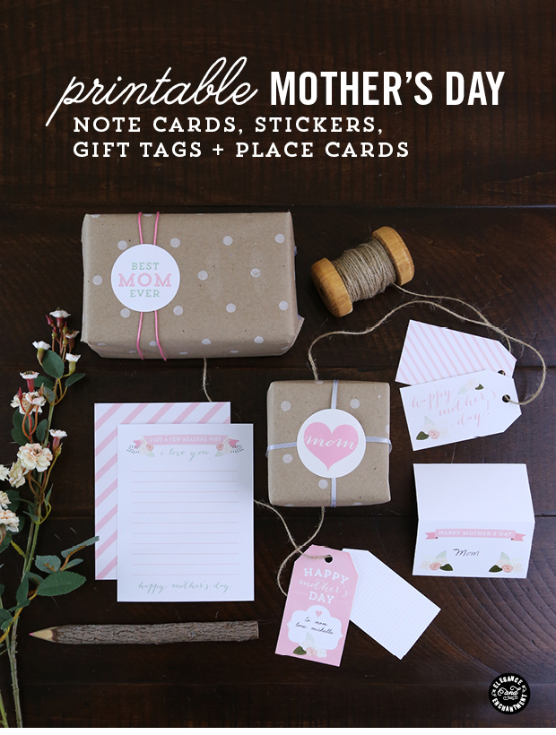 Mothers Day Printables Stickers Cards Gift Tags And