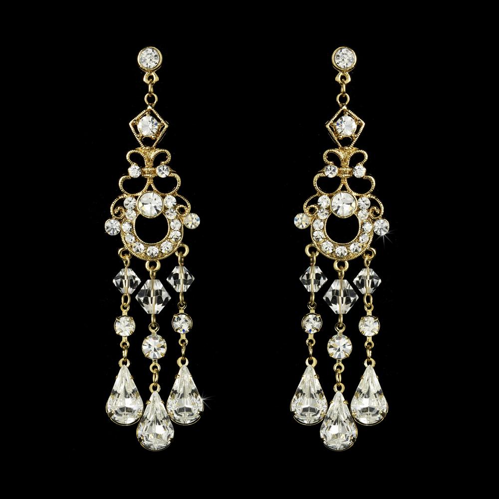 Swarovski Bridal Chandelier Earrings Elegant Bridal Hair