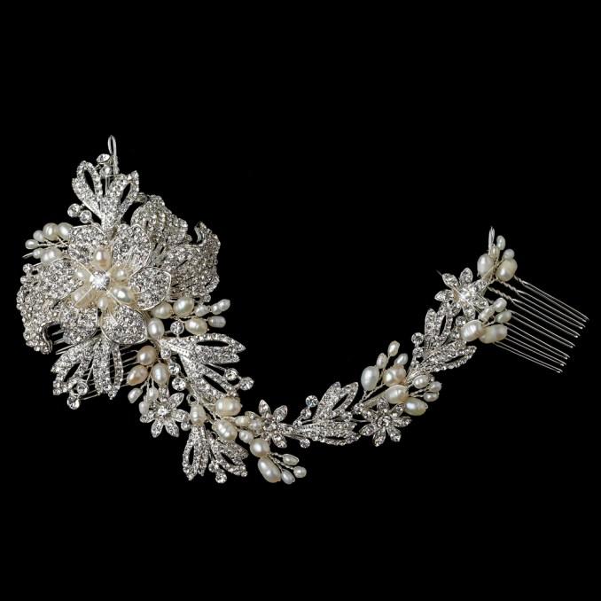 gallica bridal vine hair comb