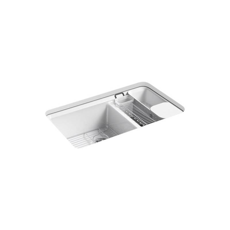 riverby 33 x 22 x 9 5 8 undermount large medium double bowl