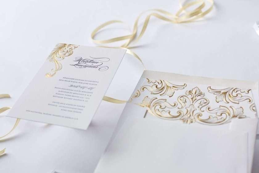Victorian Style Letterpress Wedding Invitation 2