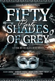 50 Shades Of Grey Party PSD Template By ElegantFlyer