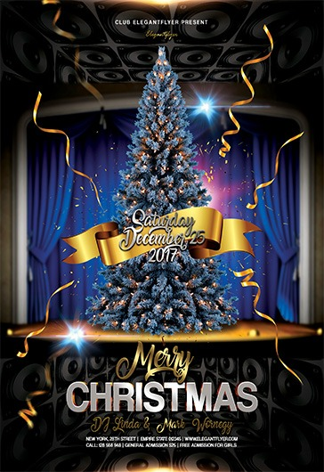 Merry Christmas V02 Flyer PSD Template By ElegantFlyer