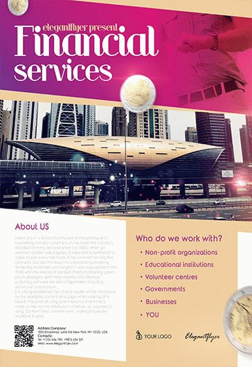 Free Financial Flyer Templates in PSD   by ElegantFlyer Free Financial Services Flyer Templates