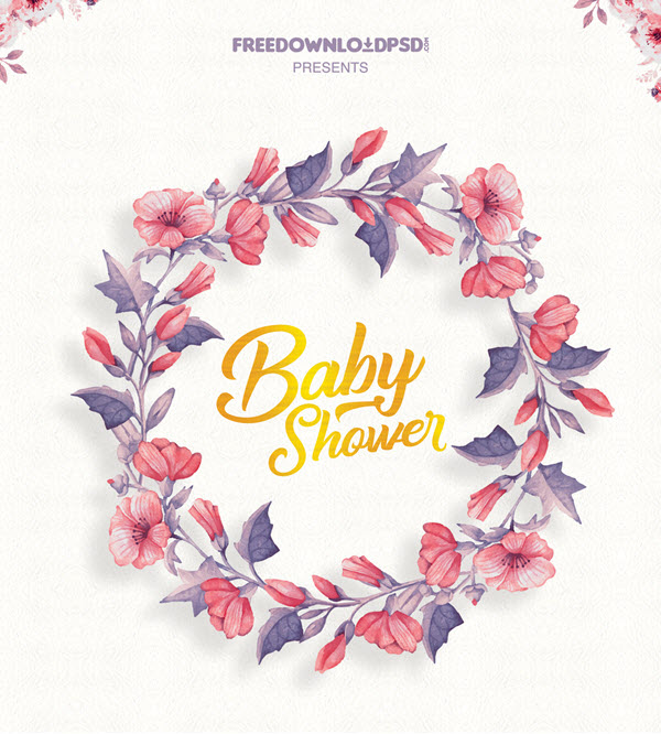 20 Free And Premium Baby Shower Invitation Templates In Psd