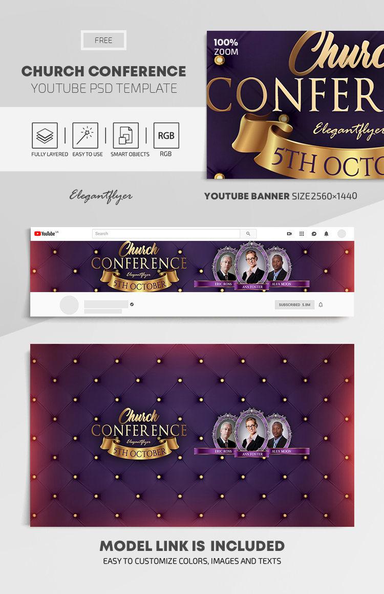 )(n.) (1) something that establishes or serves as a pattern for reference. Church Conference Free Youtube Channel Banner Psd Template By Elegantflyer