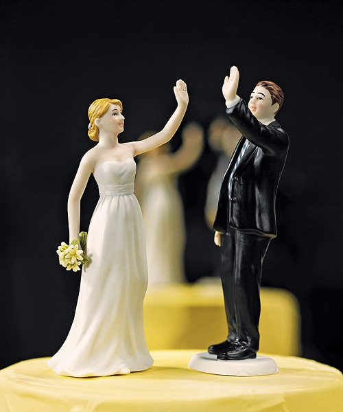 5 Funny Cake Toppers for a Laid Back Wedding