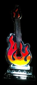 Flaming Guitar Ice Sculpture