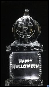 Pumpkin ice Luge on Happy Halloween