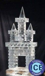 castle ice schulpture