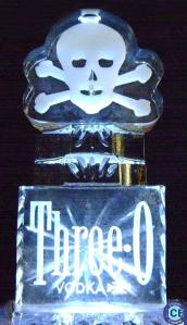 halloween skull ice luge