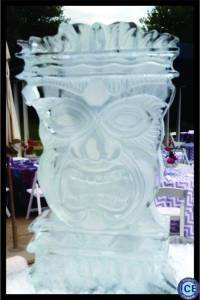 tiki head ice sculpture