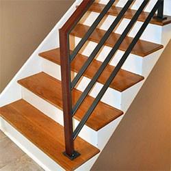 Elegant Iron Studios Custom Ornamental Metalwork Modern   Horizontal Iron Stair Railing   Chris Loves   Modern   Popular   Low Cost   Remodel