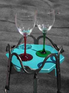 wine glasses on table top