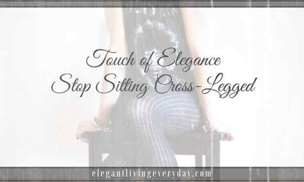 Stop Sitting Cross-Legged
