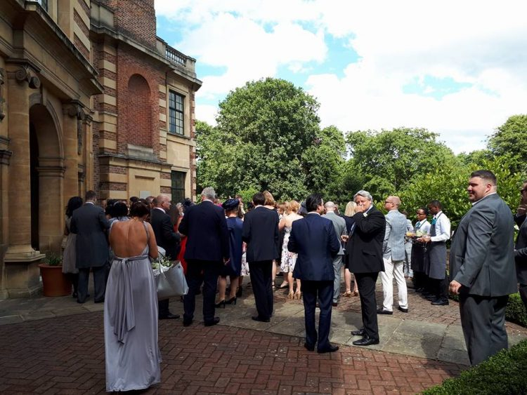 Wedding day at Eltham Palace