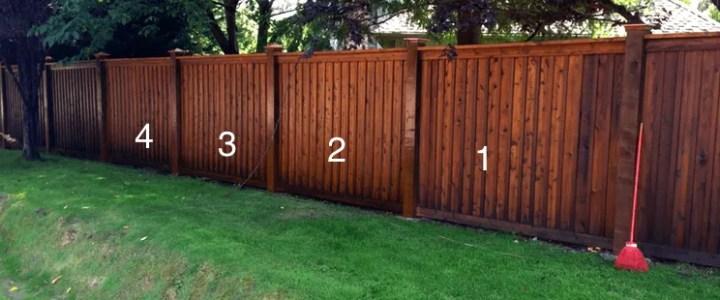fence stain woodinville, WA