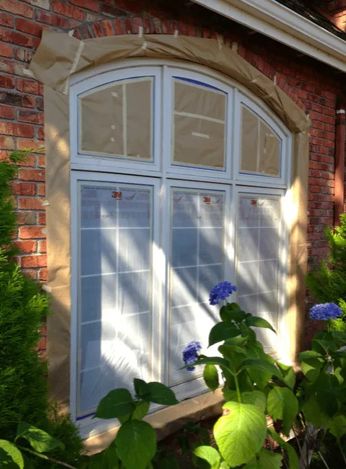 redmond masking window glass for coating application