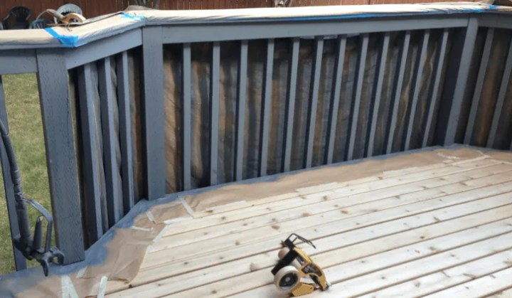 masking cedar deck railings