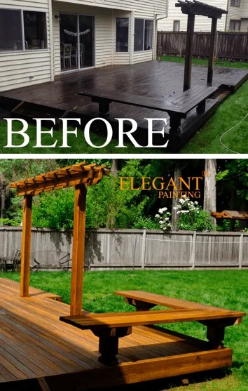 elegant deck before and after