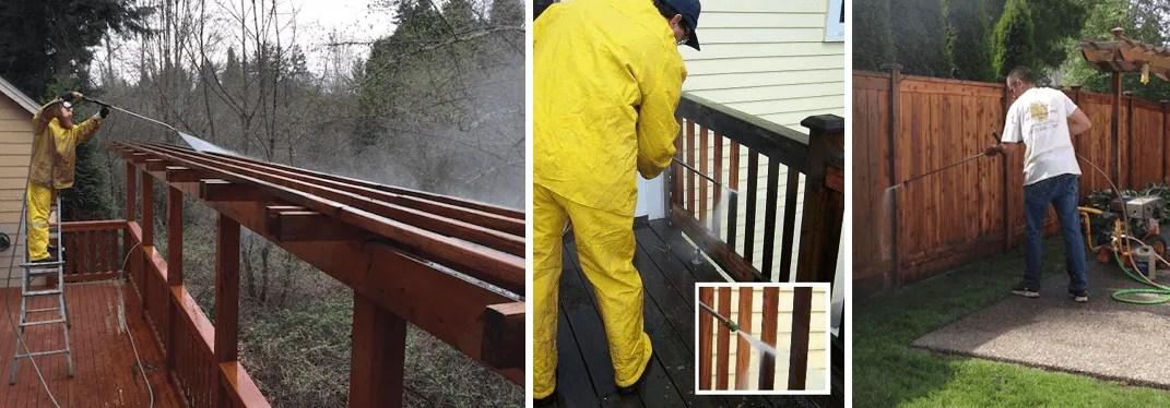 Deck staining Redmond