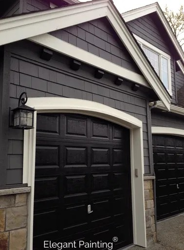 Painting garage doors; siding, trim, or accent color on Garage Door Colors Pictures  id=49349