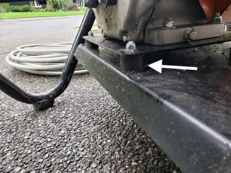 Stihl pressure washer rubber vibration damper