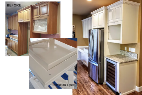 cabinets painting before after