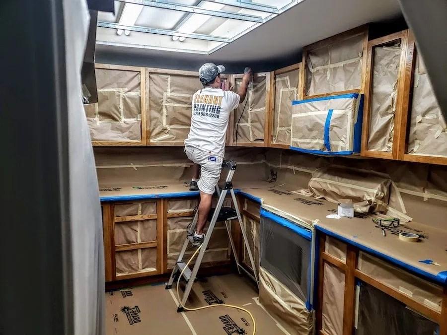 sanding cabinets 98052