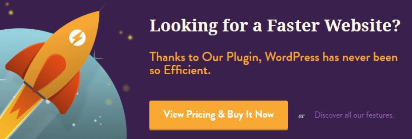 The WP Rocket plugin.