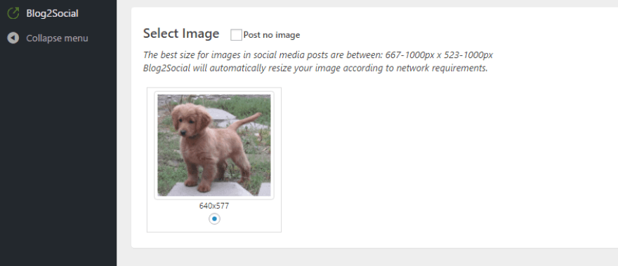 Choosing a featured image for your content.
