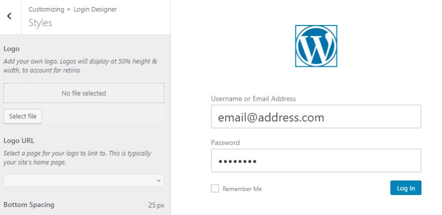Changing your login screen's logo.