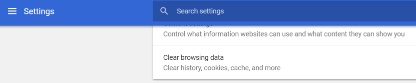 Clearing your browser's cache.