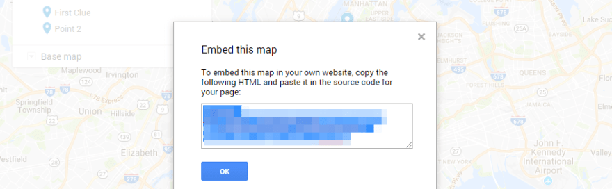 Embedding a map on your website.