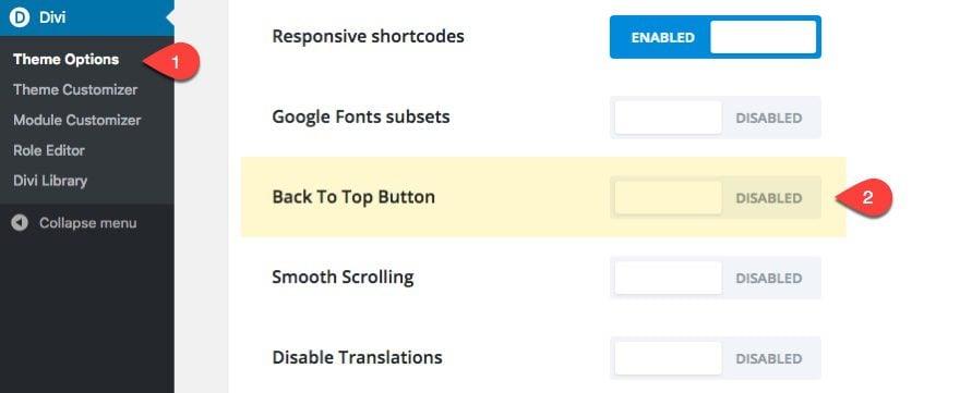 enable btt button