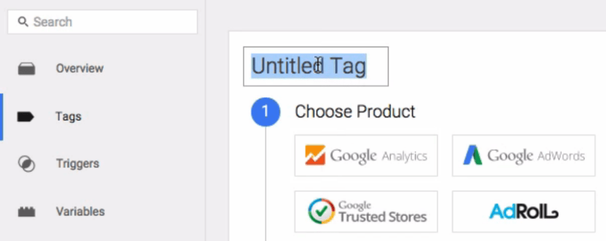 Set a name for your tag.