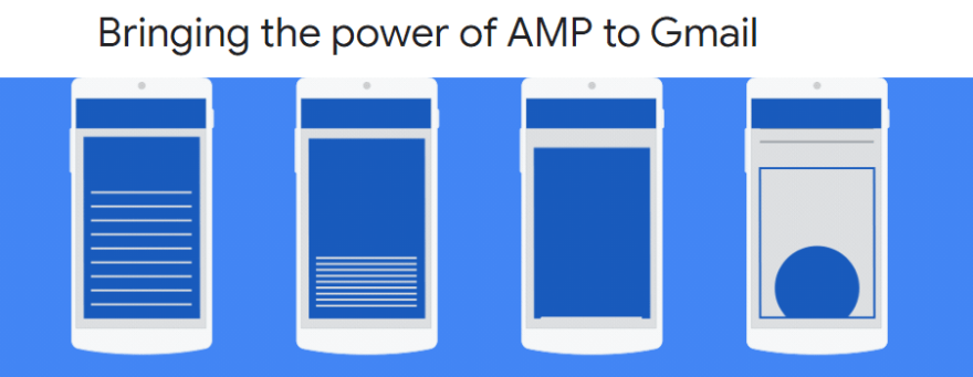 The AMP for email announcement page.