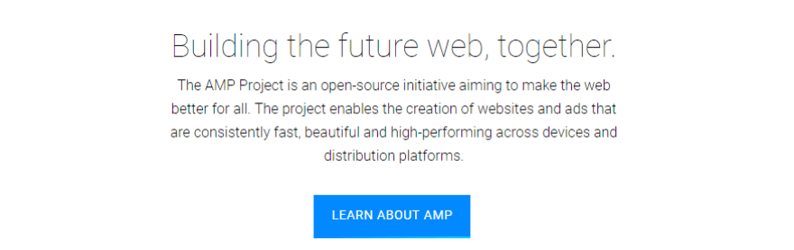 The AMP Project homepage.