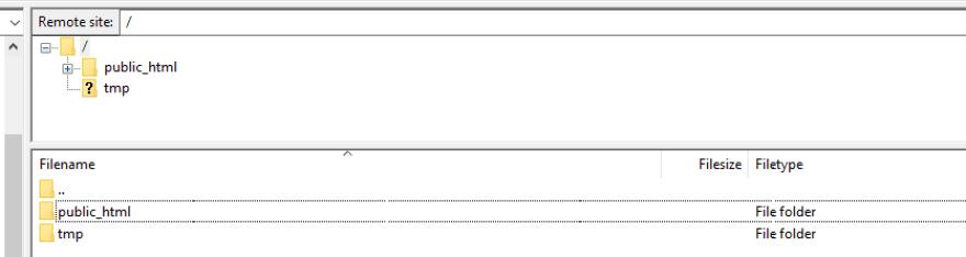 Your public_html folder.