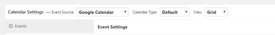 Choosing Google Calendar as your calendar's source.