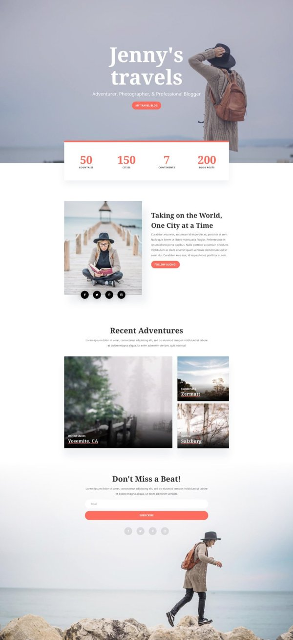 Get a FREE & Adventurous Travel Blog Layout Pack for Divi ...