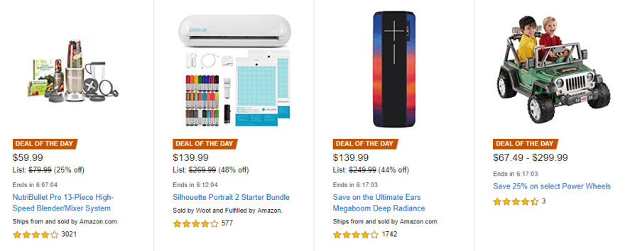 Several examples of limited-time offers.