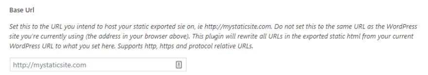 Setting the URL for your static website.