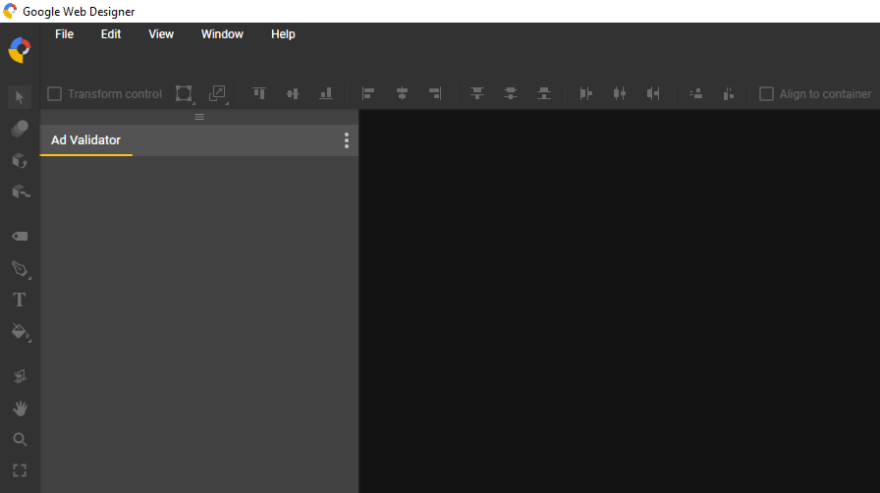 The program's interface.