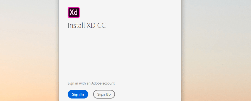 Signing into your Adobe account.