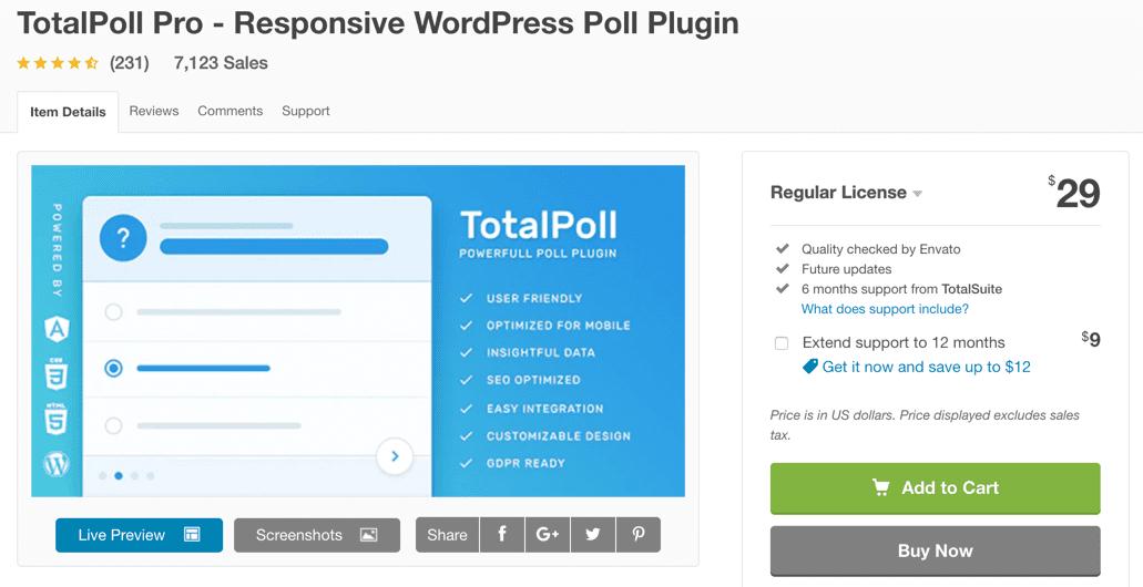 totalpoll wordpress survey plugin