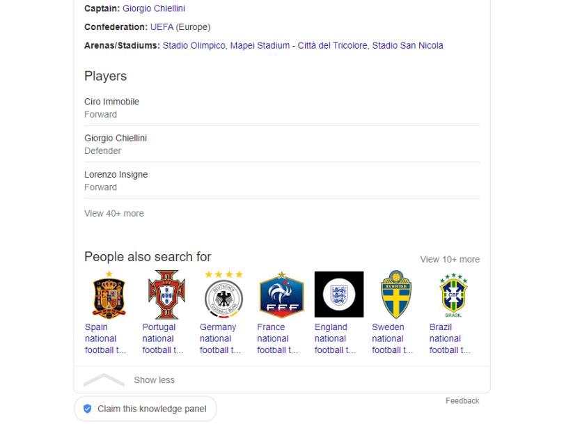 A Google knowledge panel.